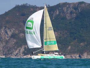 帆船名将携车车科技号角逐中国杯帆船赛冠军